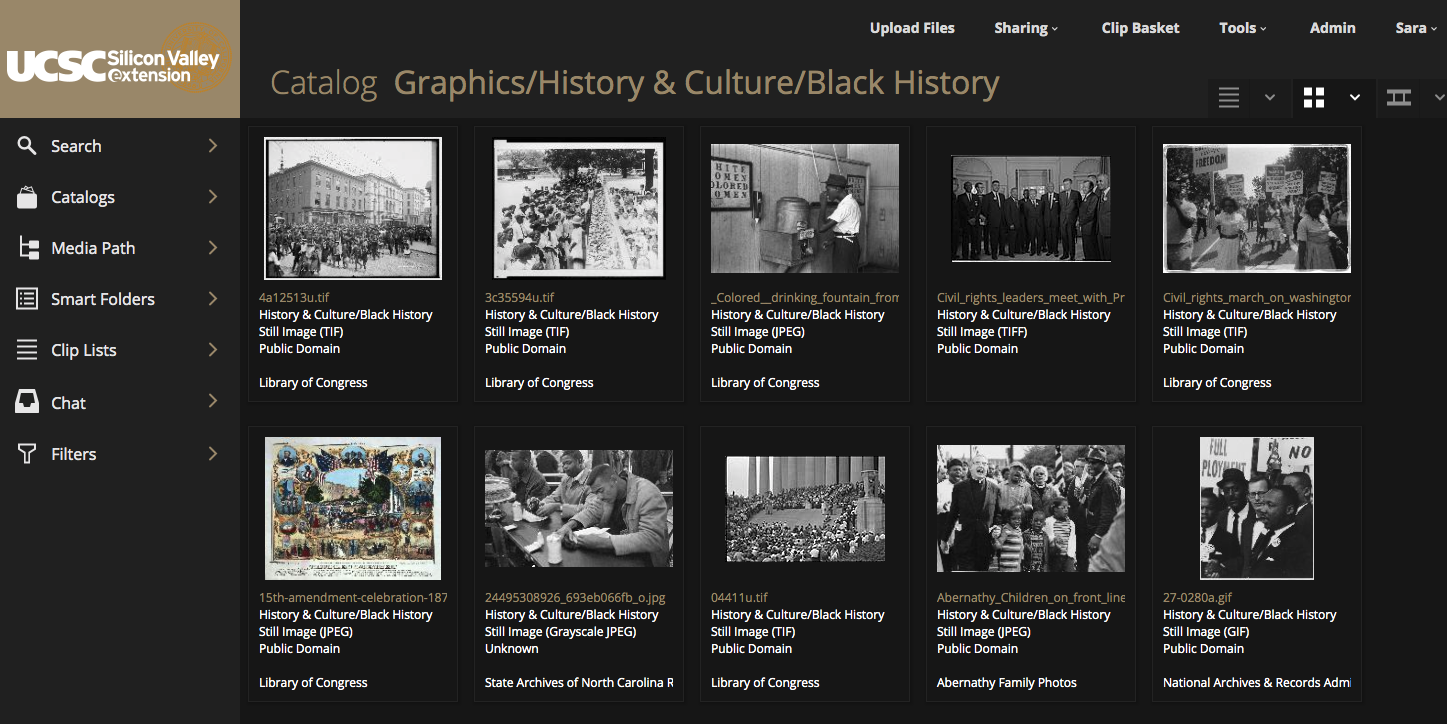The Black History Month catalog I published for our content creators in February of 2019.